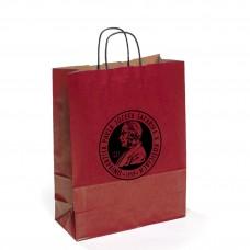 Papierová taška - červená