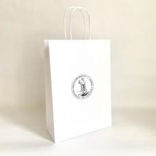 Papierová taška biela s logom Filozofickej fakulty