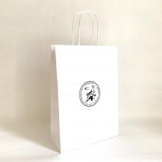 Papierová taška biela s logom Prírodovedeckej fakulty