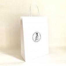 Papierová taška biela s logom Fakulty verejnej správy