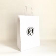 Papierová taška biela s logom univerzity